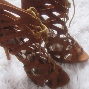 Shoes - lace up heeled boots 3 for $30